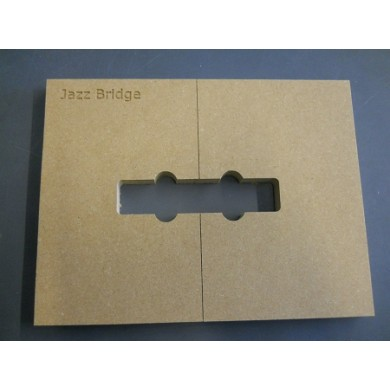 "Mike Plyler 1/2"" Thick MDF Jazz L Size Template"