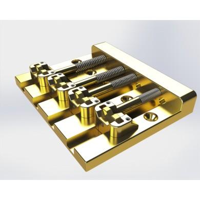 Hipshot KickAss 4 String Bass Bridge (Gold)
