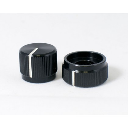Concentric Stacked Black Aluminum Knob
