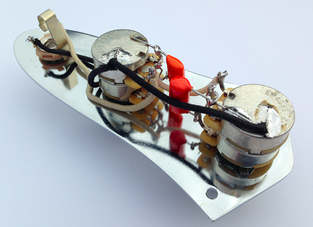 american vintage 62 jazz bass pre-wired control assembly ... fender american jazz bass wiring diagram #4