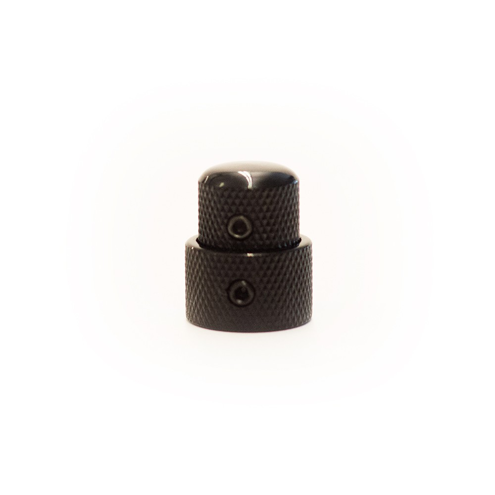 Concentric Stacked Metal Dome Knob Black Best Bass Gear