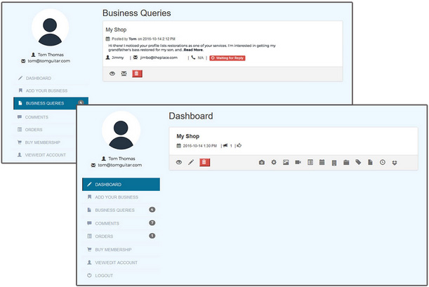 Business Listing Dashboard